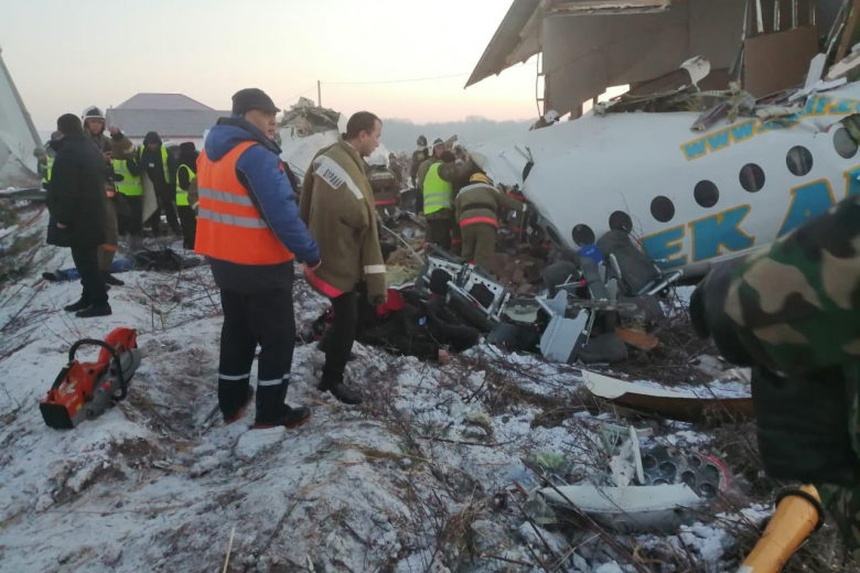 Plane with 100 on board crashes at Kazakhstan's Almaty airport, killing at least 15