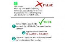 MOT posts clarification after false messages on public transport vouchers circulate