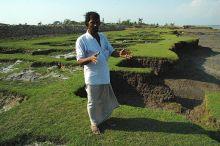 Pulau Ghoramara di India makin tenggelam