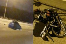 Motorcyclist killed in early morning accident on BKE; taxi driver arrested