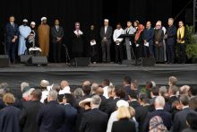 Christchurch mosque victims' names read out to silent crowd at New Zealand memorial