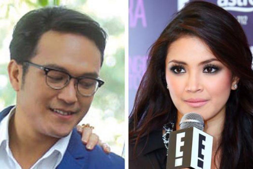 BUAT PENJELASAN: Shaheizy Sam berkata Fazura (kanan) hanya rakan artis selepas pelakon wanita itu mengeluarkan kenyataan yang beliau pernah bercinta dengannya. - Foto-foto fail
