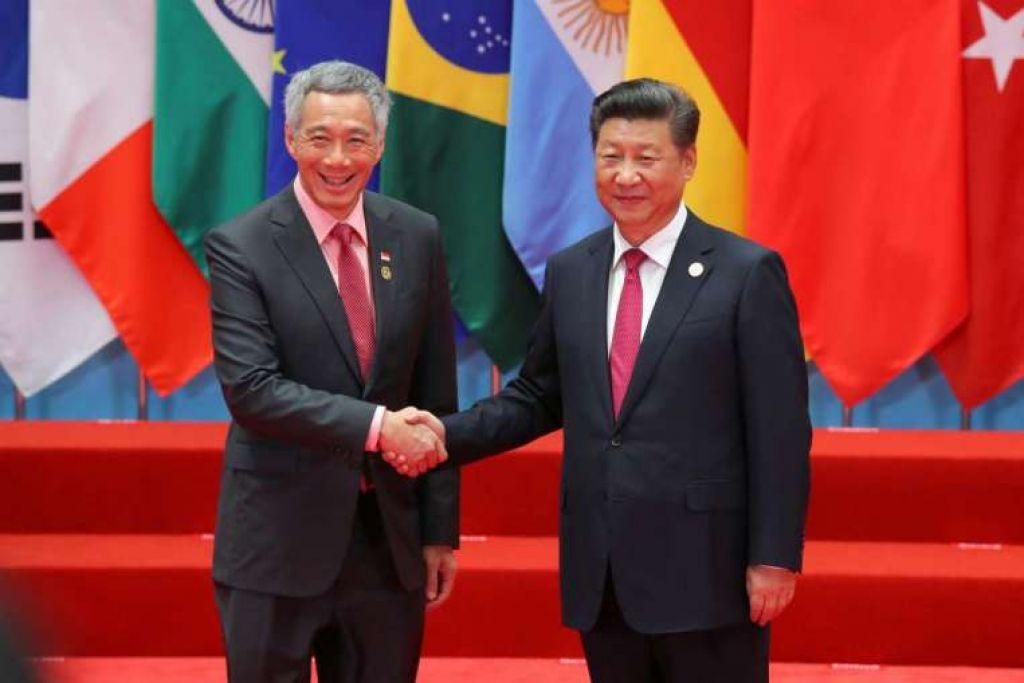 Perdana Menteri Lee Hsien Loong bertemu Presiden China, Encik Xi Jinping, di Sidang Puncak G20 di Hangzhou, China, pada 4 Sep 2016.