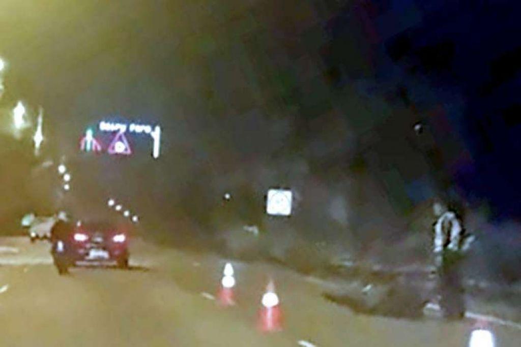 Menurut seorang pemandu teksi, babi hutang yang dilanggar penunggang motosikal tersebut kira-kira satu meter panjang dan kelihatan keluar dari kawasan hutan di sebelah BKE.