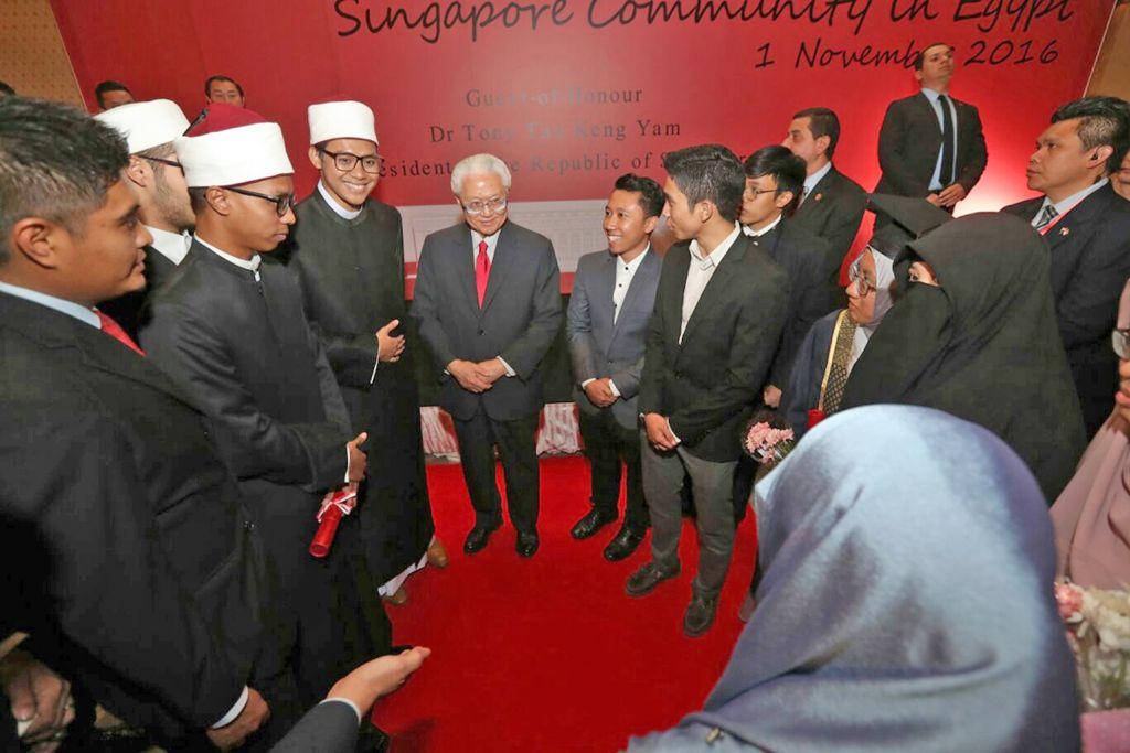LAWATAN PRESIDEN TONY TAN KE MESIR Singapura dan Mesir kongsi harapan rangsang kerjasama politik, ekonomi dan agama