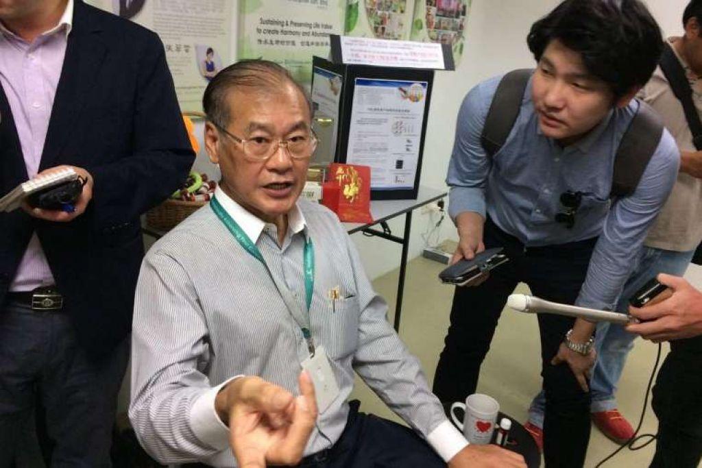 Encik Chong Ah Kow, pemilik Tombo enterprise, bercakap kepada pemberita di Kuala Lumpur tentang suspek dari Korea Utara yang bekerja dengan syarikatnya.