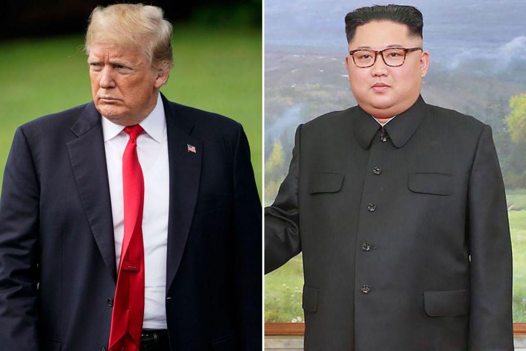BERUBAH FIKIRAN: Presiden Amerika Syarikat, Encik Donald Trump (kiri) berkata pasukan Amerika telah tiba di Korea Utara untuk membuat persiapan bagi sidang puncak antara beliau dan pemimpin Korea Utara, Encik Kim Jong Un (kanan), di Singapura. - Foto-foto AFP
