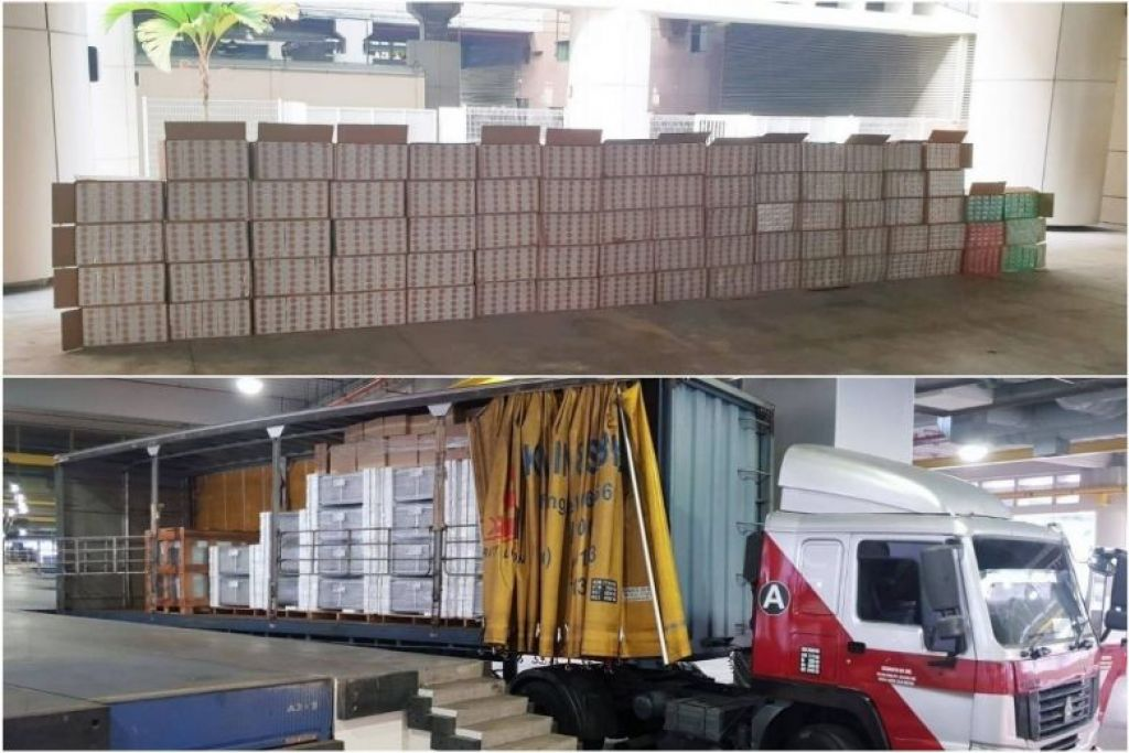 4,000 cartons of contraband cigarettes declared as air-conditioners found at Tuas Checkpoint