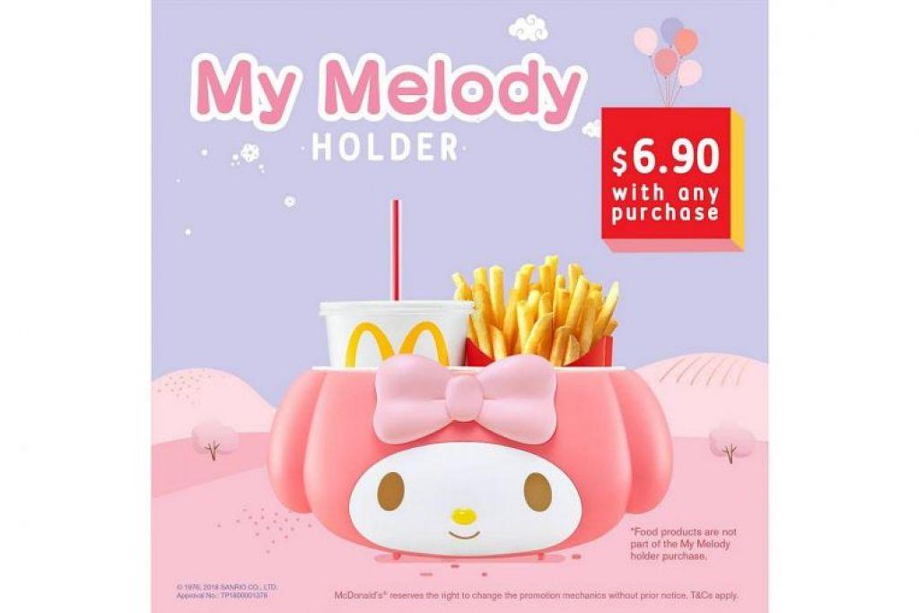 Mereka yang datang awal berpeluang membeli pemegang itu pada harga $6.90 setiap satu dengan sebarang pembelian McDonald's.