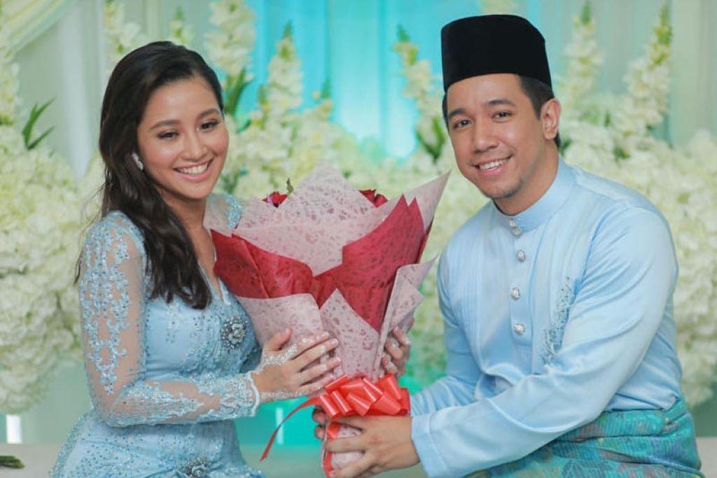 Sufie Rashid bertunang dengan ahli perniagaan dari Malaysia, Nurulain Md Yusof di Seremban, semalam (15 Dis).