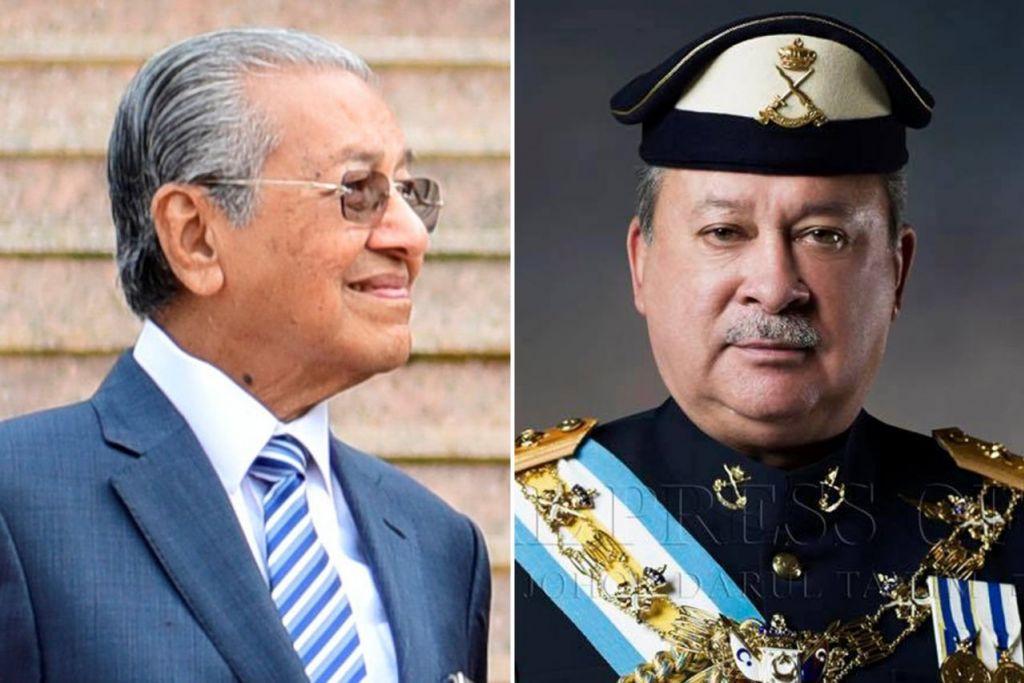 PERTEMUAN DUA PEMIMPIN: Dr Mahathir Mohamad (kiri) dan Sultan Johor, Sultan Ibrahim Iskandar, dijangka bertemu buat pertama kali sejak Dr Mahathir kembali menjadi Perdana Menteri Malaysia selepas pilihan raya umum ke-14 Mei lalu. - Foto-foto fail