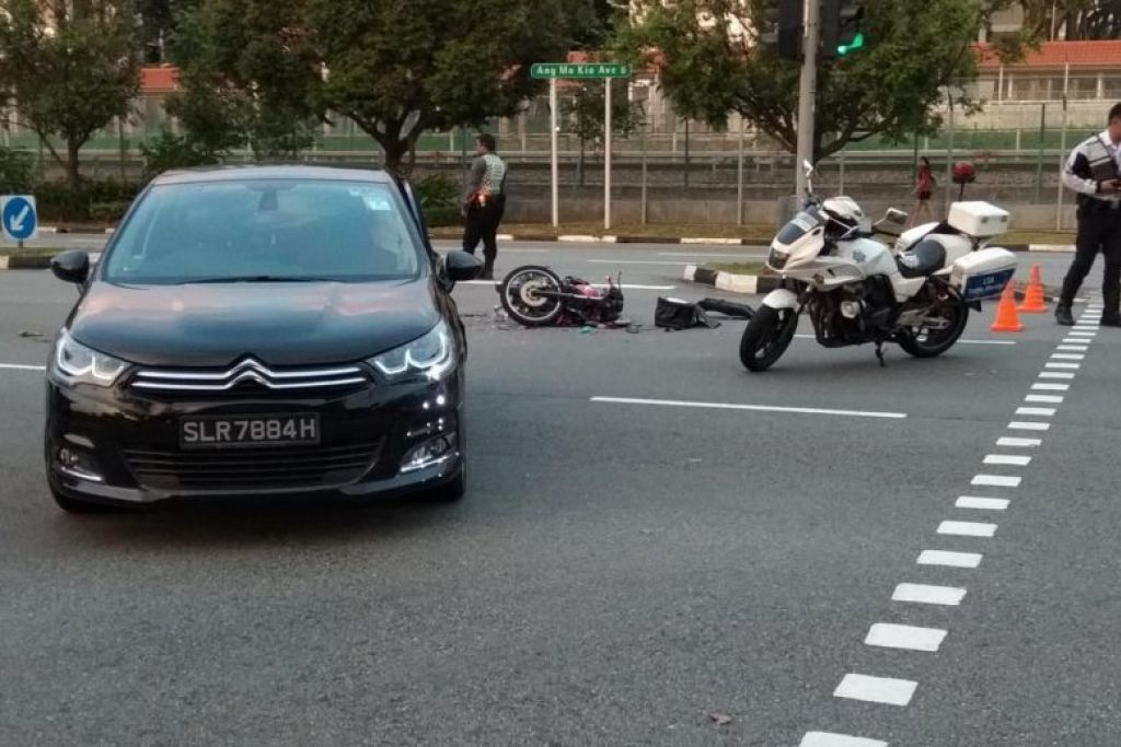 Motorcyclist dies from injuries after collision with car in Ang Mo Kio