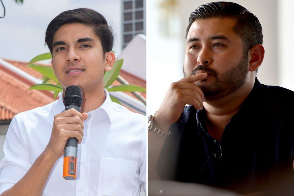 DINGIN: Syed Saddiq (kiri) rasa 'sangat tidak selesa' dek beberapa permintaan khusus Tunku Mahkota Johor. Beliau mendakwa tuntutan itu dibuat sebelum dan selepas Pilihan Raya Umum ke-14 (PRU14) pada Mei tahun lalu. - Foto-foto fail