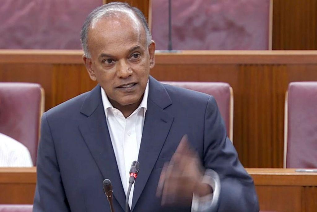 GULUNG PERBAHASAN: Encik Shanmugam tekankan pentingnya pemerintah berupaya mengambil tindakan pantas mengatasi berita palsu untuk memelihara kepercayaan terhadap pemerintah dan institusi. - Foto GOV.SG