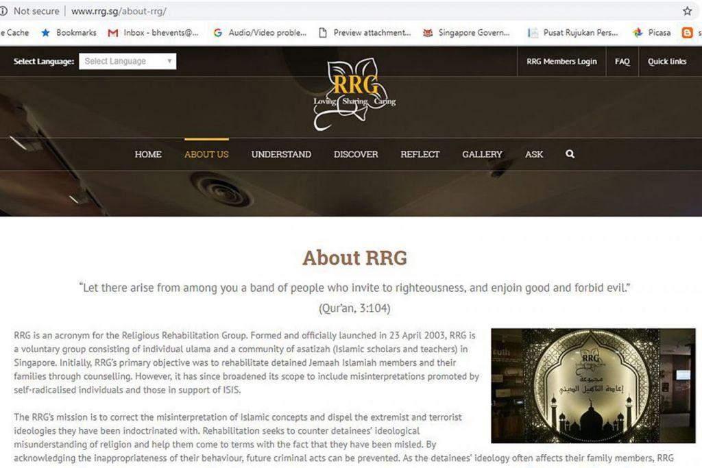LAMAN RRG: Laman web RRG pertama kali dilancarkan pada 2007 dan sejak itu ia telah dua kali diubah suai dan diberi nafas baru iaitu pada 2012 dan 2017. - Foto RRG