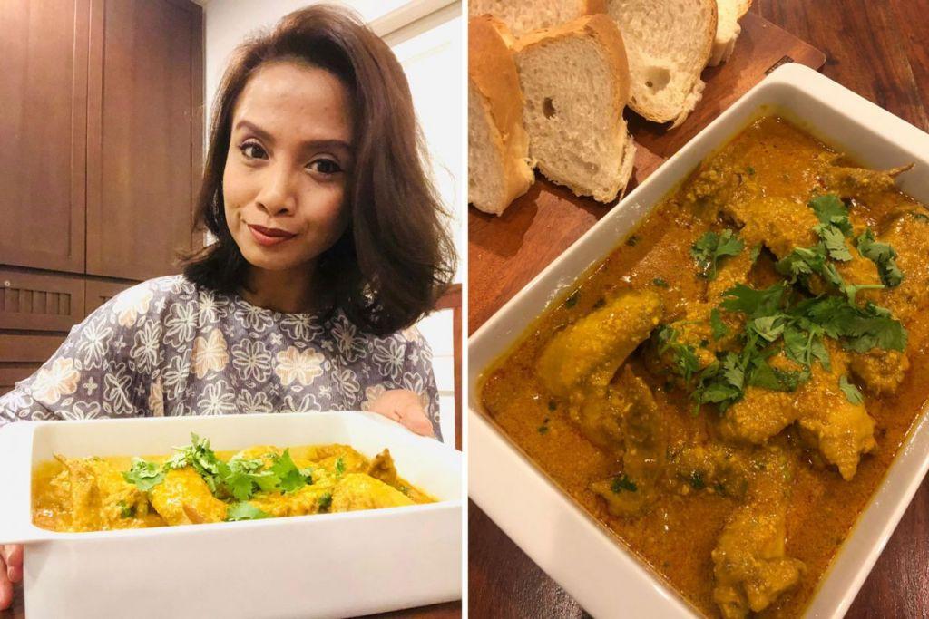 (Kiri) ANEKA HIDANGAN UNTUK TETAMU: Ariati Tyep Papar gemar menyediakan hidangan pelbagai jenis seperti masakan Melayu, Barat dan India untuk tetamunya. Bagi beliau, sajiannya haruslah mudah, cepat disiapkan dan paling penting, enak. - Foto ihsan ARIATI TYEP PAPAR (Kanan) MUDAH DIMASAK DAN SEDAP: Inilah hidangan lauk 'Ayam Chowdry' yang sesuai dimakan dengan roti perancis, naan atau perata.