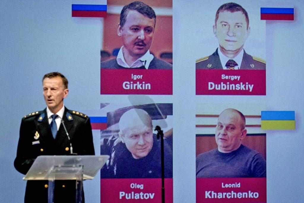 AKAN DIDAKWA: Pasukan antarabangsa yang diketuai Belanda yang menyiasat kes tembakan jatuh pesawat MH17 menamakan empat suspek sebagai lelaki Russia Sergey Dubinsky, Oleg Pulatov dan Igor Girkin, dan lelaki Ukraine Leonid Kharchenko. - Foto EPA-EFE